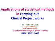 Statistical and epidemiology methods 10-01-2018
