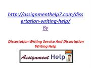 Dissertation Writing Service And Dissertation Writing Help