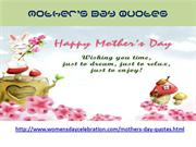 Mothers Day Quotes | Women's Day Celebration