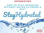This summer Stay hydrated without water| Crated by Sandhisudha