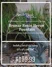 Bronze Resin Heron Fountain-Smith Creek Fish Farm