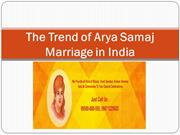The Trend of Arya Samaj Marriage in India
