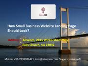 How Small Business Website Landing Page Should Look