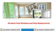 All about Vinyl Windows and Vinyl Replacements