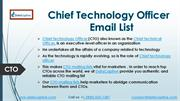 CTO Email List | CTO Mailing List | Chief Technology Officer EmailList
