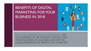 Benefits of digital marketing for your business in 2018