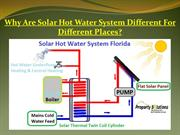 Why-Are-Solar-Hot-Water-System-Different-For-Different-Places