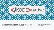 Kodenative - Best Web Services Provider in Delhi/NCR