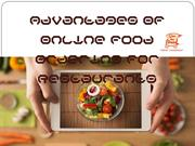 Advantages Of Online Food Ordering For Restaurants