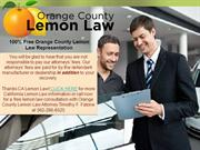 Orange County Lemon Attorney - Your Real Time Partner for Lemon Vehicl