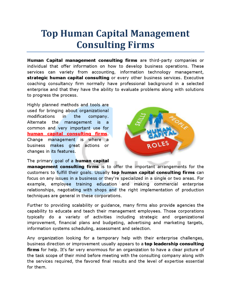 Top Human Capital Management Consulting Firms Authorstream