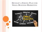 Develop a Strong Plan for Small Business Marketing
