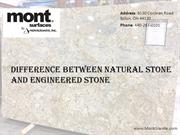 Find Difference Between Natural Stone and Engineered Stones