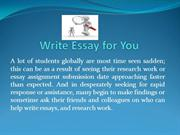 Write Essay for You