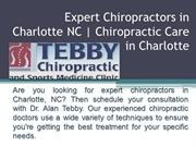 Expert Chiropractors in Charlotte NC   Chiropractic Care in Charlotte