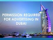 Permission Required For Advertising In Dubai