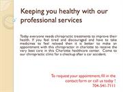Accident Injury Relief Center | Chiropractor in Charlotte NC