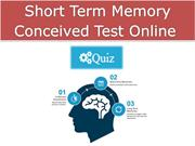 Short Term Memory Conceived Test Online