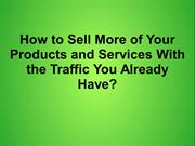 Sell Online More With Traffic You Already Have