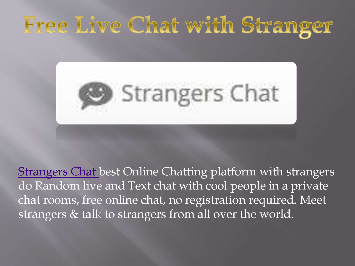 Chat with strangers online for free