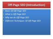 Off-Page SEO Complete Tutorial