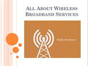 All About Wireless Broadband Services