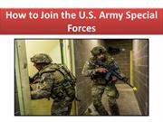 How to Join the U.S. Army Special Forces