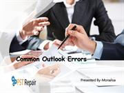 Outlook PST Repair tool for Common Outlook Errors