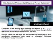 Risk Management Framework and Its process for Test Environment