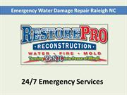 Emergency Water Damage Repair Raleigh NC