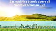 Basmati Rice Stands above all Varieties of Indian