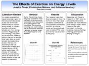 The Effects of Exercise on Energy Levels