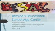 Bernices Educational School Age Center rosie power point  4  6  18