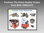 Purchase The Finest Quality Torque Tools With TORQ