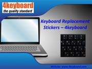Keyboard Replacement Stickers – 4keyboard