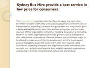 Sydney Bus Hire provide a best service in low price for consumers