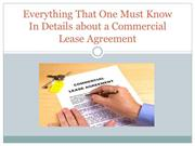 Everything That One Must Know In Details about a Commercial Lease