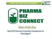 Top PCD Pharma and Pharma Franchise Companies in Chandigarh