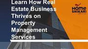 Learn How Real Estate Business Thrives on Property Management Services