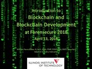 Introduction to Blockchain and Blockchain Development