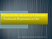 rectification or correction of a trademark