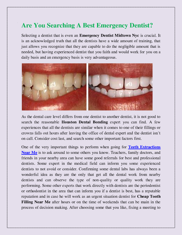 Are You Searching a Best Emergency Dentist |authorSTREAM