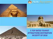 5 Top Rated Tourist Attractions destination in Egypt of 2018