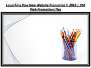 Launching Your New Website Promotion in 2018