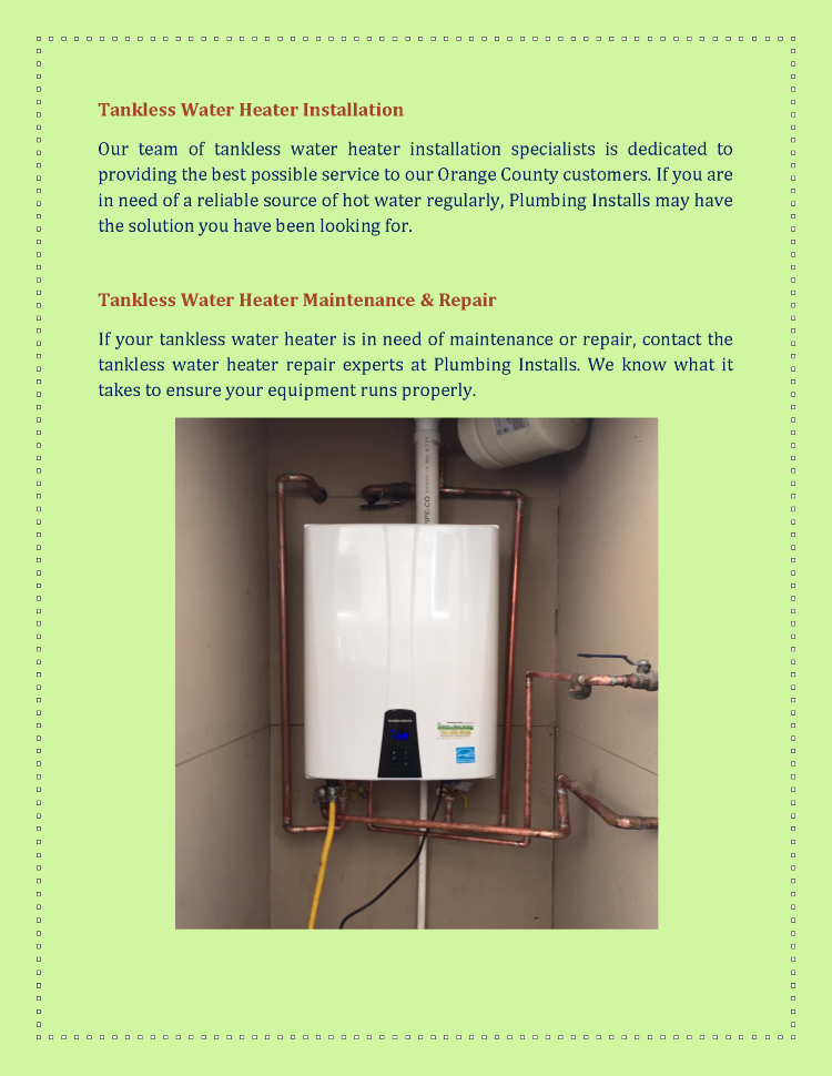 tankless water heaters repair service and tankless water heater in