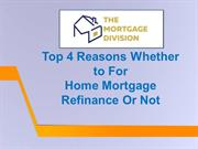 Refinance Mortgage  Mississauga  - The Mortgage Division