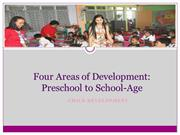Four Areas of Development - Preschool to School-Age