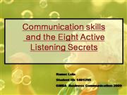 BC Communication skills and 8 listening