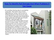 How To Identify Hail Damage And What Problems It Can Cause