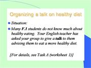 A talk on healthy diet